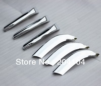 free shipping! 2010-2013 Toyota Prado ABS chromed trim front grille moulding car accessories 6pcs