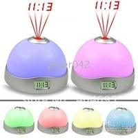 Free shipping+20pcs colorful projection clock, three-color magic color projection clock