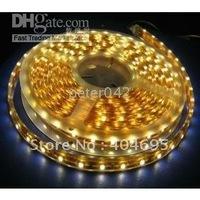 Free shipping+ 5meter waterprof flexible 3528 led light /flexible led strip , yellow /white/red /blue color led light!!