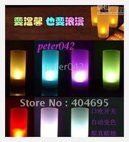 Free shipping+100pcs/lot Romantic voice control LED light ,led candle / romantic sound control led candle light
