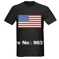 Wholesale New Sound Activated Disco Music LED T-Shirt Dancing Music America National flag Size XL, Christmas Gift Free shipping