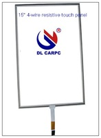 """2011 15"""" 4:3 4-wire resistive touch panel with 3H surface,water proof"""