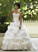 size/Custom size NO.288 White/ivory Strapless wedding dress/bridal/evening dress/plus/pregnant