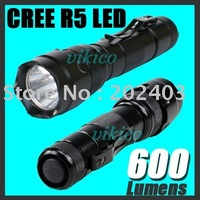 Ultrafire High Power CREE R5 LED 600 Lumens 5-Modes Flashlight Torch police torch secrity torch torchlgith