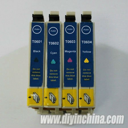 New ink cartridges T0601-T0604 for Epson Stylus C88/CX3800/CX3810/CX4200/CX4800/CX5800/CX5800F/CX7800 Free Shipping(China (Mainland))