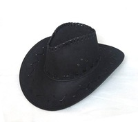 Cowboy Hats Caps Leather Hat Western Felt Hats Cap Black Coffee Pink Red Grey Color Mix