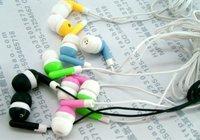 EMS Free Shipping 50pcs/lot 3.5mm in ear earphone for mp4 mp3 laptop/ colorful in-ear earphone