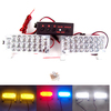 FREE SHIPPING 2*22 LED Fire Emergency Strobe Warning Lights  BLUE 3 FLASHING MODE