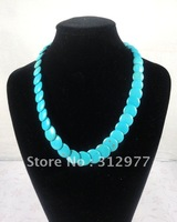 Very popular wholesale 6pcs/lot fashion jewelry turquoise lady's necklace Hot free shipping