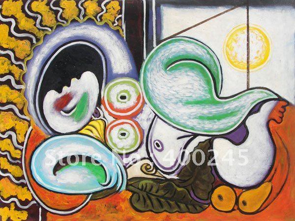 De Picasso Pintura A Leo Abstrata Sof Nu Por Pablo