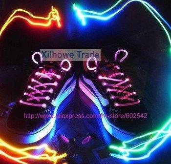 wholesale, led shining changing color fashion shoelace