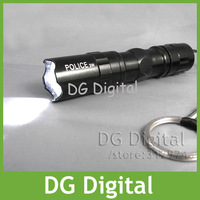 wholesale 10pcs/lot portable waterproof  LED Flashlight Police high brightness LED torch + Free Shipping