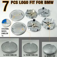 7Pcs/set Classic Blue/White Emblem logo badges SET For BMW #2983