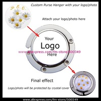 Custom Purse Hanger Bag Hook With Your Own Photo/Logo/Design Customized Handbag Hanger (Free Shipping)