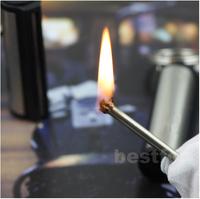 Refillable Metal Match Striker Cigar Lighter Keychain& free shipping
