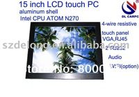"""2014 newstyle  15"""" lcd industry pc with water proof,wifi,VGA,RJ45,RS232 input +one year guarantee+wholesale and retail"""