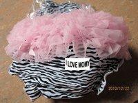 100pcs Wholesale 2011 New arrival Zebra ruffle bloomer Baby underwear short pants