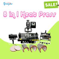 Guaranteed 100% NEW Wholesale and Retail Combo 8 in1 heat press machine