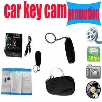Car Key Camera, Mini Security DVR Micro camera Monitor big promotion Free Shipping !! dropshipping