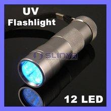 Hot Sale 12 LED UV Flashlight 395-400nm Wavelength UV Torch(China (Mainland))