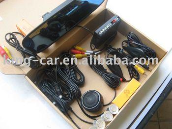 12voltage waterproof sensor reverse camera 3.5inch rear view mirror TFT voice alart display parking sensor PVV-2-350