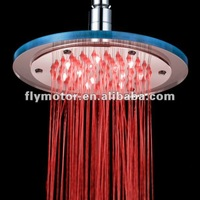 led over shower / top shower / over head spray / big round shower (color changing) with different water temprature LD8030-A4