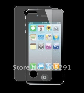 LCD Guard Clear Film Screen Protector For iPhone 4 4G 4S With Retail Package