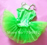 wholesale -,children play costume, Girls Fairy Dress,green color ,10 pcs/lot,free shipping Green Tutu dress