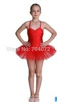 Bailarina Ballet Leotard Wholesale -tutu Dress ,dancing Costume, Girls Fairy Dress,red Color ,10 Pcs/lot,free Shipping Skating