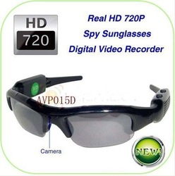 HD 720P Sunglasses hidden mini DVR cameras sunglasses camera/recorder eyeware avp015d(Hong Kong)