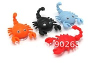 Free Shipping/Accept Credit Cardl/Many Colors! 30pcs New Novelty items scorpion shape plastic animal hook