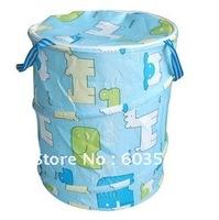 HOT!Free Shipping,5pcs/lot,Non-woven cloth barrels,Folding Storage basket,Waterproof,Toy basket,More color, mix wholesale