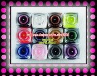 FREE SHIPPING 12 pc 8ml Mix Colors Shiny Fine UV Builder Gel Nail Art K381