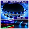 Flexible led strip light Promotion  + Wholesale + 10pcs/lot + 30cm 15 Led Car Light blue color