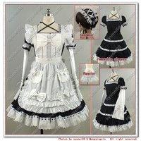 Gothic Lolita Maid Sissy Halloween Cosplay Cotton Custom Made Free Shipping