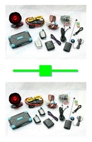 1 pcs PLC two way car alarm FM 8088 engine start LCD display range1000 M + 1 pcs two way car alarm FM 9088 engine start black