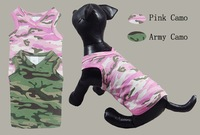 dog Sweet-heart neck Camo tank,small dog clothes
