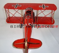 Vintage AIRFIX Red Baron Biplane Airplane Model Pure Handmade Ironhide Fighter