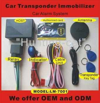 high quality 12voltage RFID transponder relay cut off ignition type one way car alarm car accessory LM7001