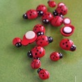 FREE SHIP Wood Ladybug bead multi-colors for Scrapbooking/card making/decoration/DIY