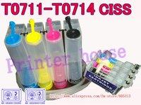 CISS for EPSON Stylus DX4000,DX4050,DX4400,DX4450,DX5000,DX5050,DX6000,DX6050,DX7000F,DX7400 T0711 T0712 T0713 T0714 CISS