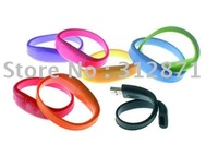 Free Shipping ! 1GB-32GB OEM Bracelet USB Flash Memory Drive, Logo Printing, Assorted Colors