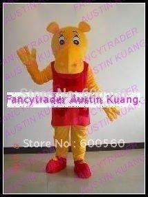 Fancytrader New Arrival The Backyardigans Tasha Hippo Mascot Costume Halloween Fursuit Fancy Dress Free Shipping FT20246