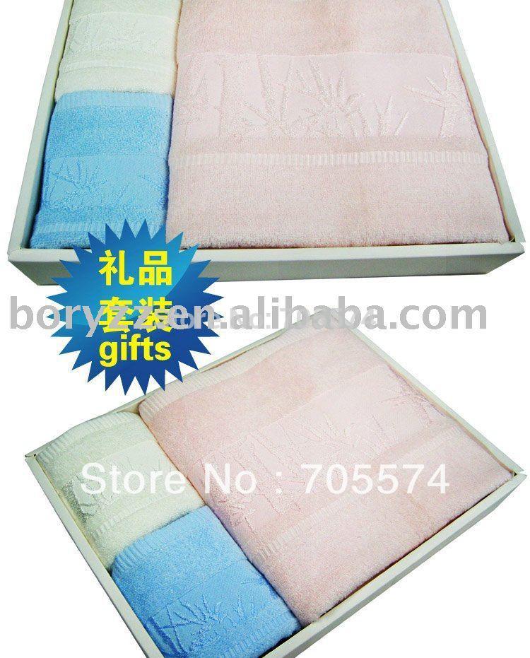 Hot Wholesale!!! Free Shipping 100% Bamboo Super Soft Breathable Wholesale Towels Bath Hand Bamboo Towel Set(Hong Kong)
