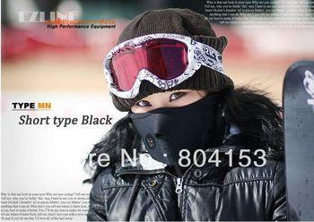 30pcs/lot EMS 50% OFF Express Shipping Sports Bicycle Fishing Racing Running Skating Skiing NECK WARMER FACE MASK Black Colour