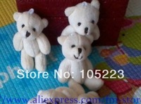 Free shipping, 100pcs/lot, 6cm Tinny bear, teddy bear, small bears. Could use for cellphone, bag, key chain. Promotional items