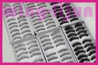 free shipping 60pairs false eyelash+free glue