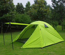 For 3-4 Person Double Layer Aluminum Alloy Camping Tent Family Tent Outdoor Tent(China (Mainland))