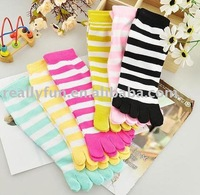 sock with five toes, girls' toe socks/ five toe sock / gilrs' lovely stockings, 20pairs/lot