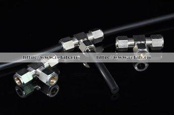 5pcs Tees+5pcs Elbows+5pcs End+2sets Ball Valves+3pcs double-nozzle connectors for fog system, 9.52mm, Free Shipping